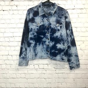 Jackets & Blazers - Helium London Tie Dye Jean Jacket